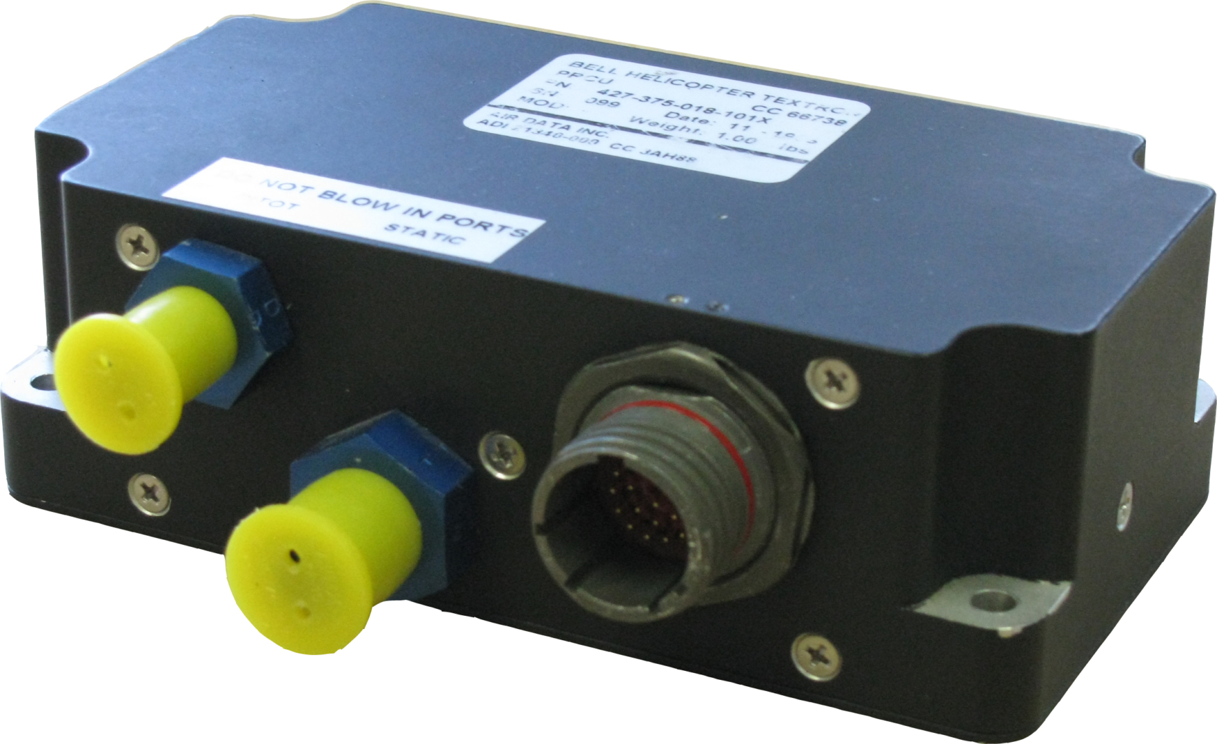 Air Data helicopter equipment pedal restrictor control unit (PRCU)